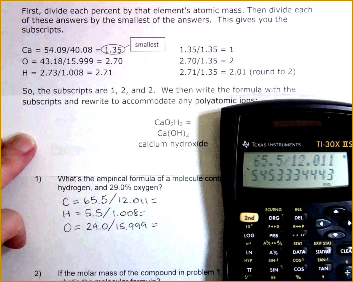 6 Empirical Formula Worksheet