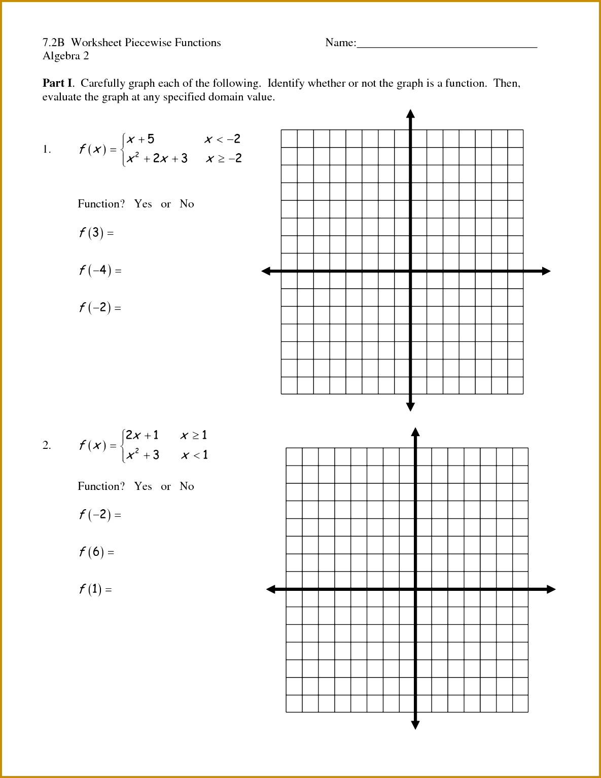 7 Graphing Rational Functions Worksheet