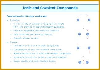 6 Ionic Bonding Worksheet Answers