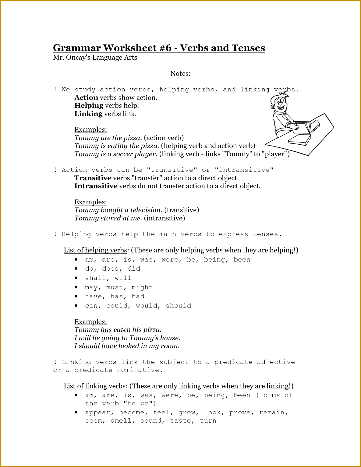 5 Irregular Verbs Worksheet
