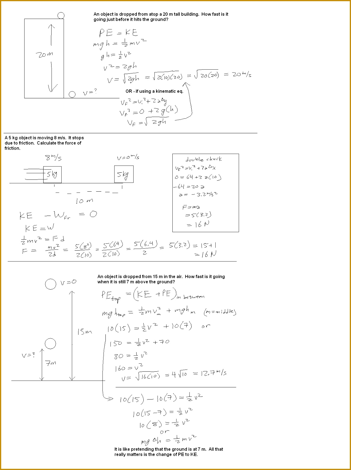 3 Kinetic And Potential Energy Worksheet Key
