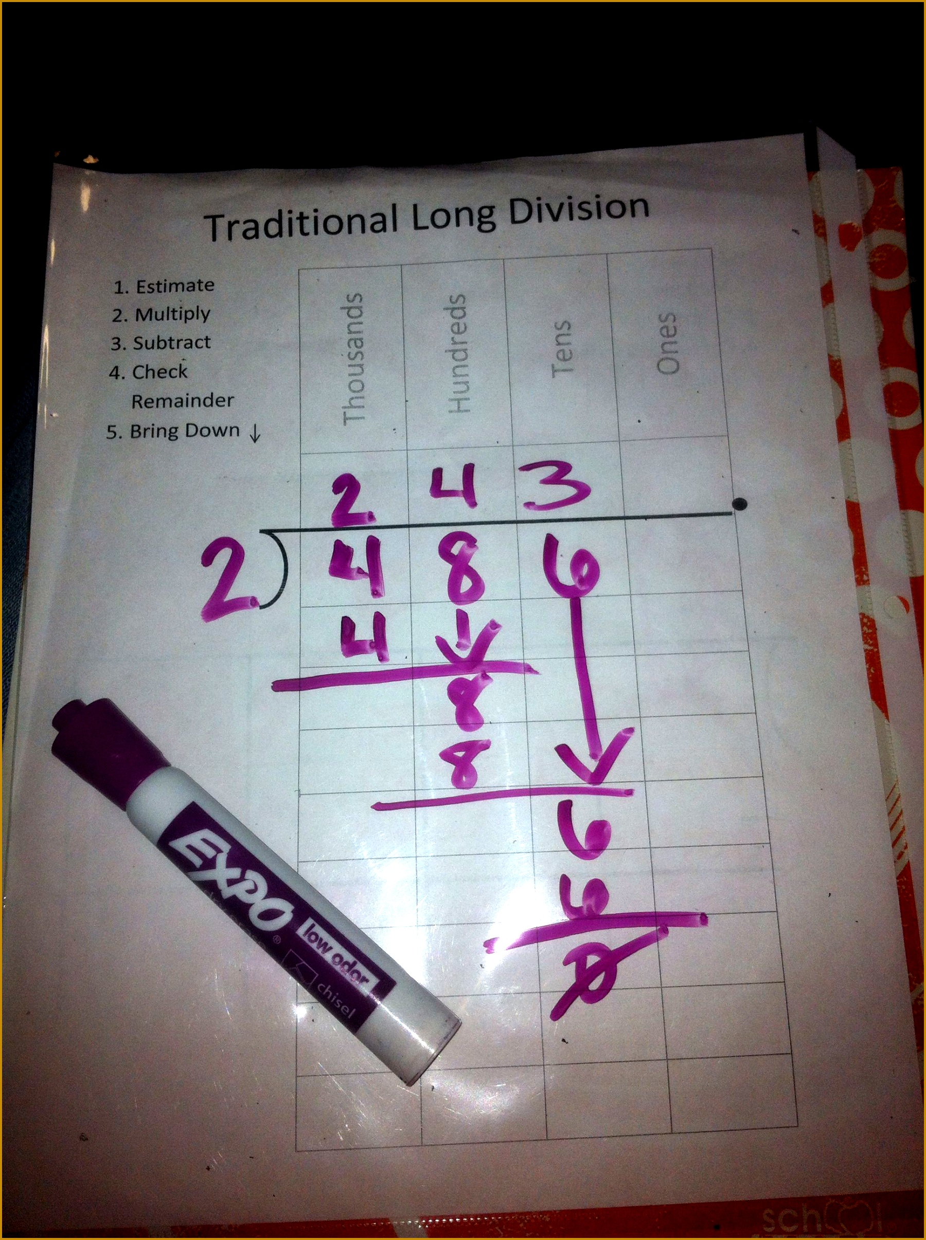 3 Long Division Worksheets