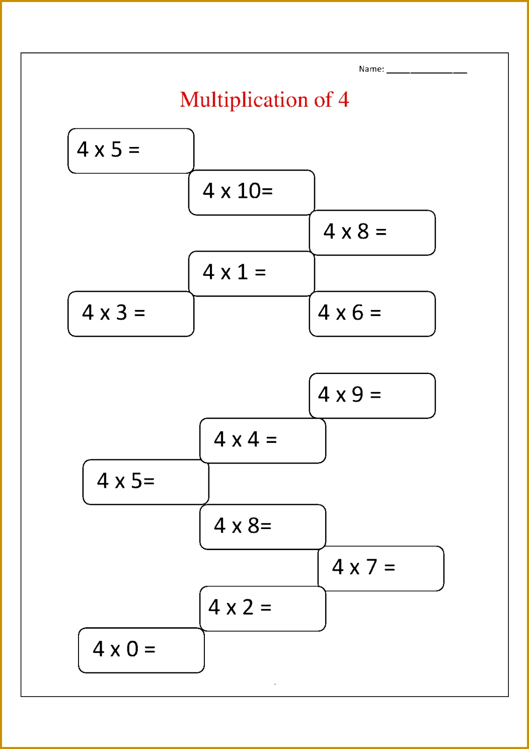7 Math Facts Worksheets