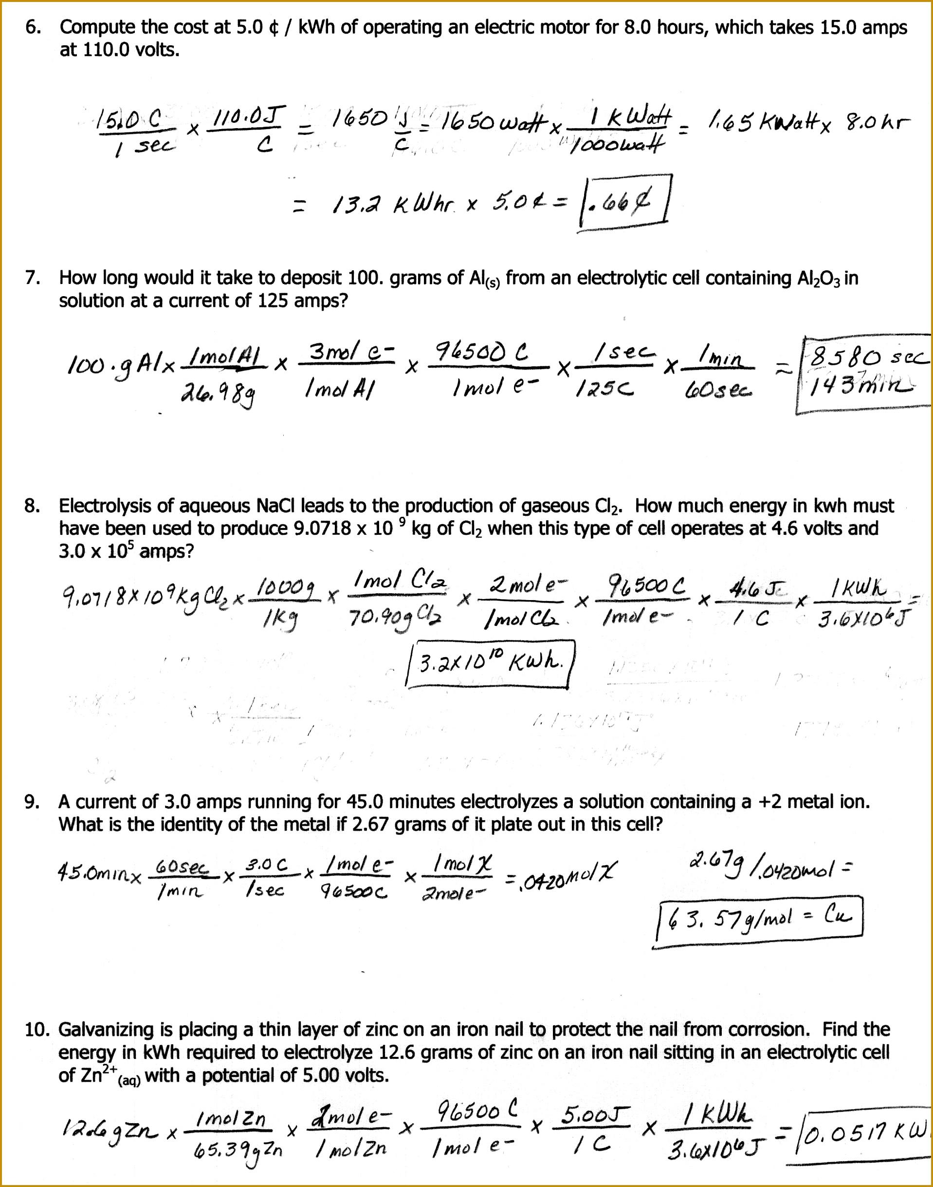5 Mole Mole Stoichiometry Worksheet