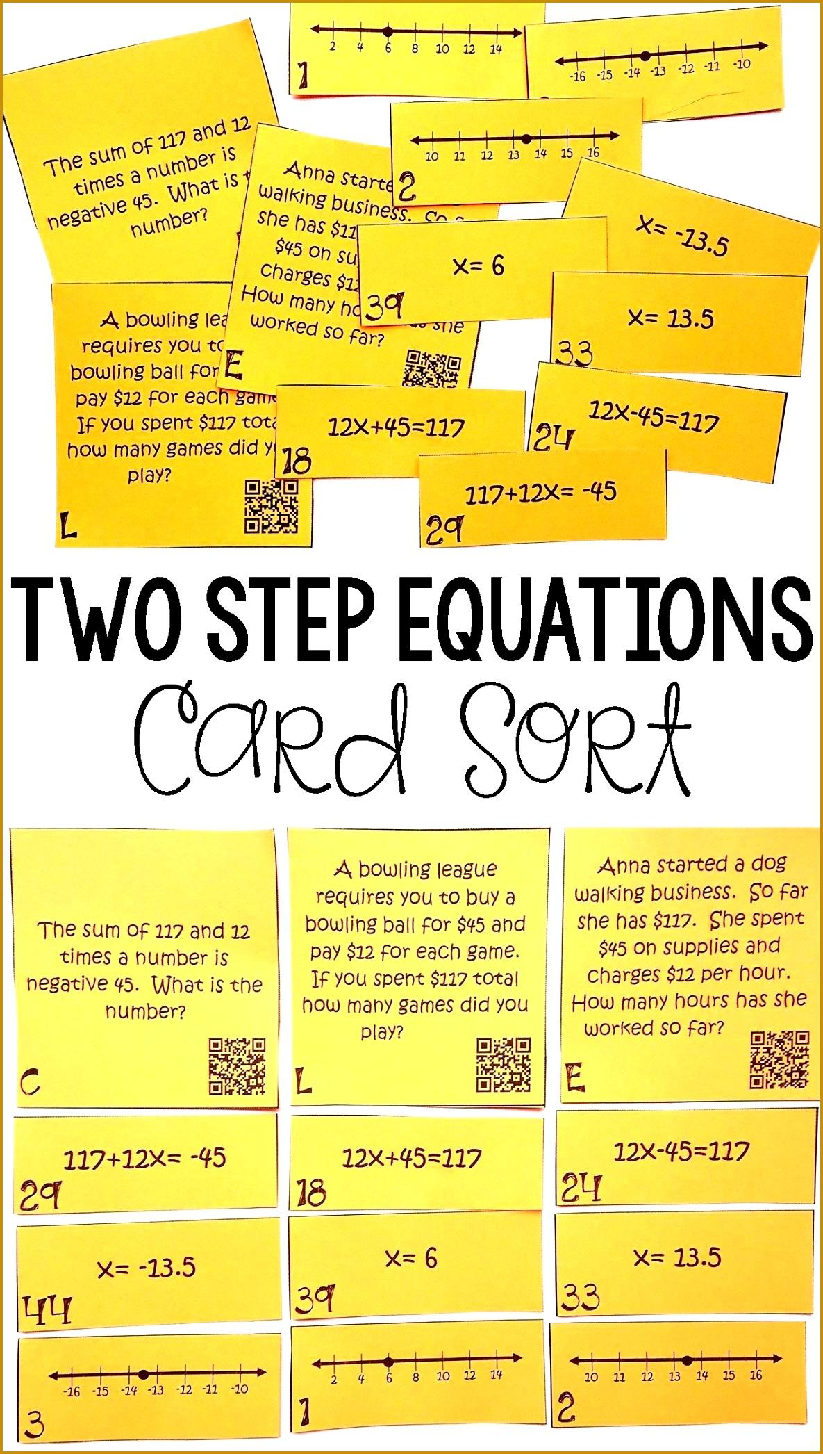 Multi Step Worksheet