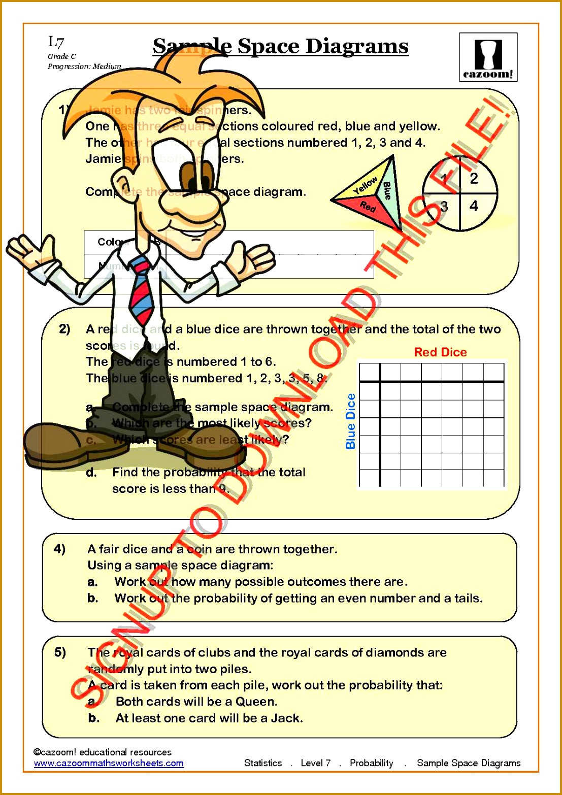 6 Probability Worksheets