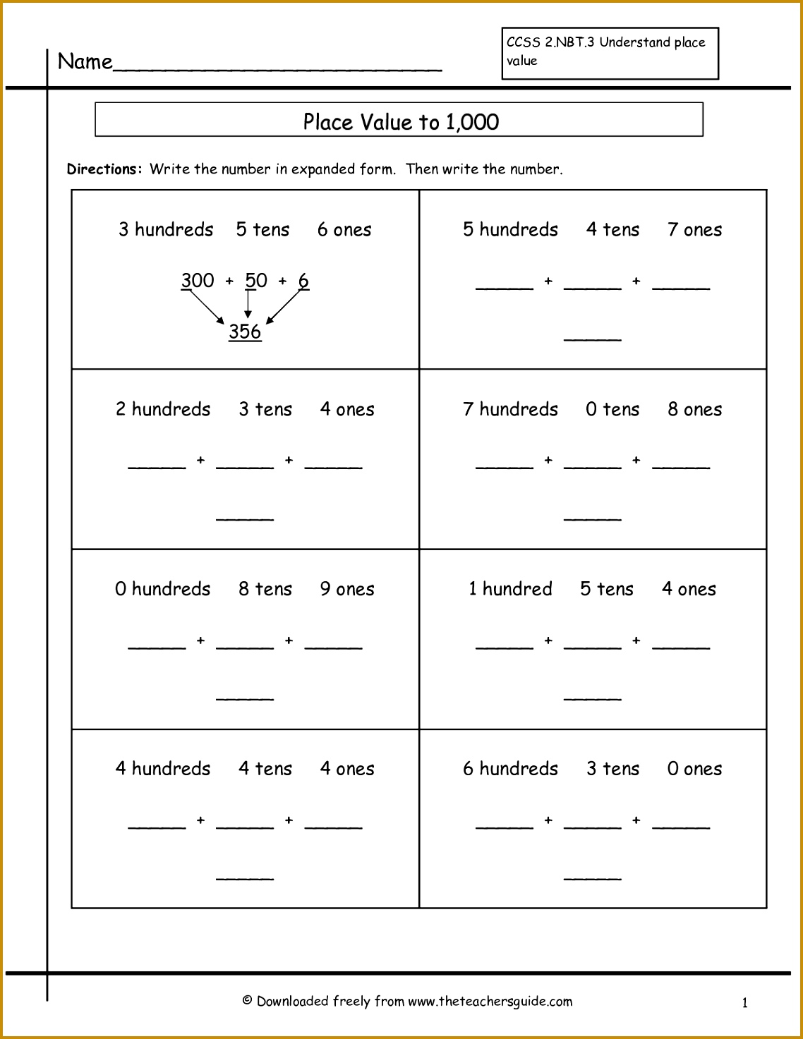 5 Rounding To The Nearest Ten And Hundred Worksheets