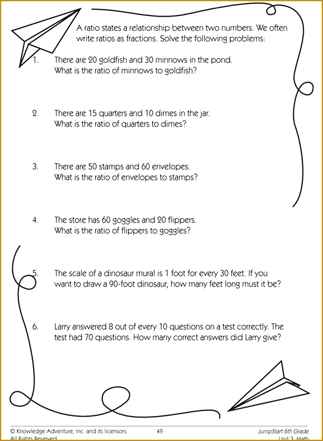 5 Solve Proportions Worksheet