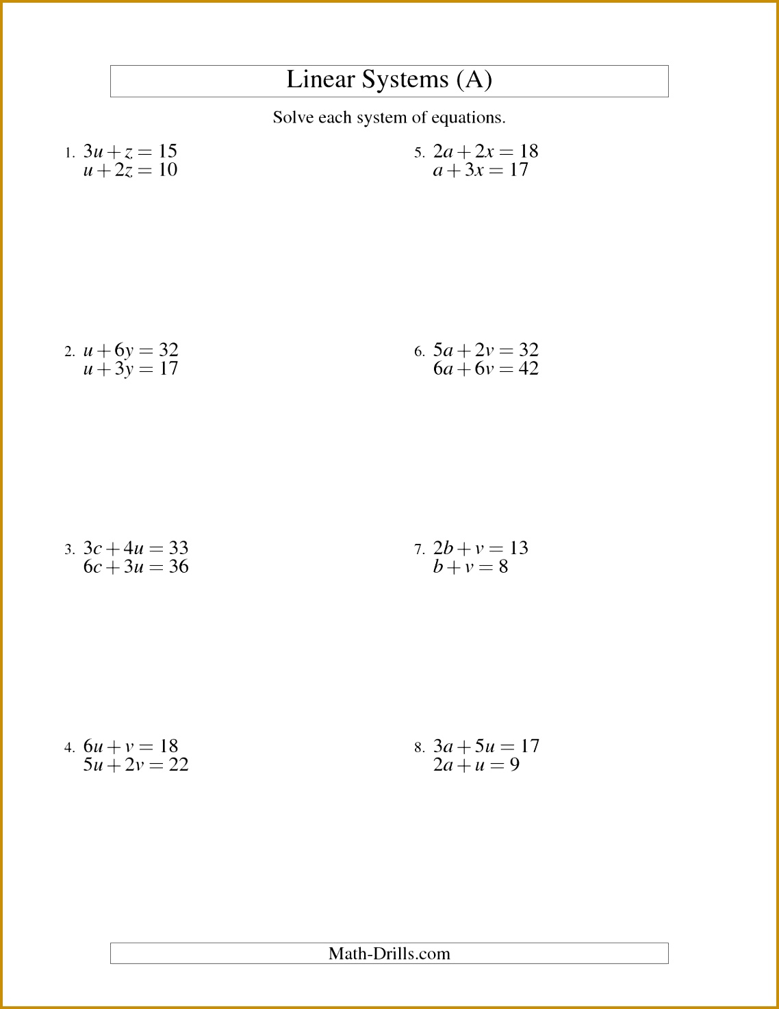 4 Solving One Step Equations Worksheet