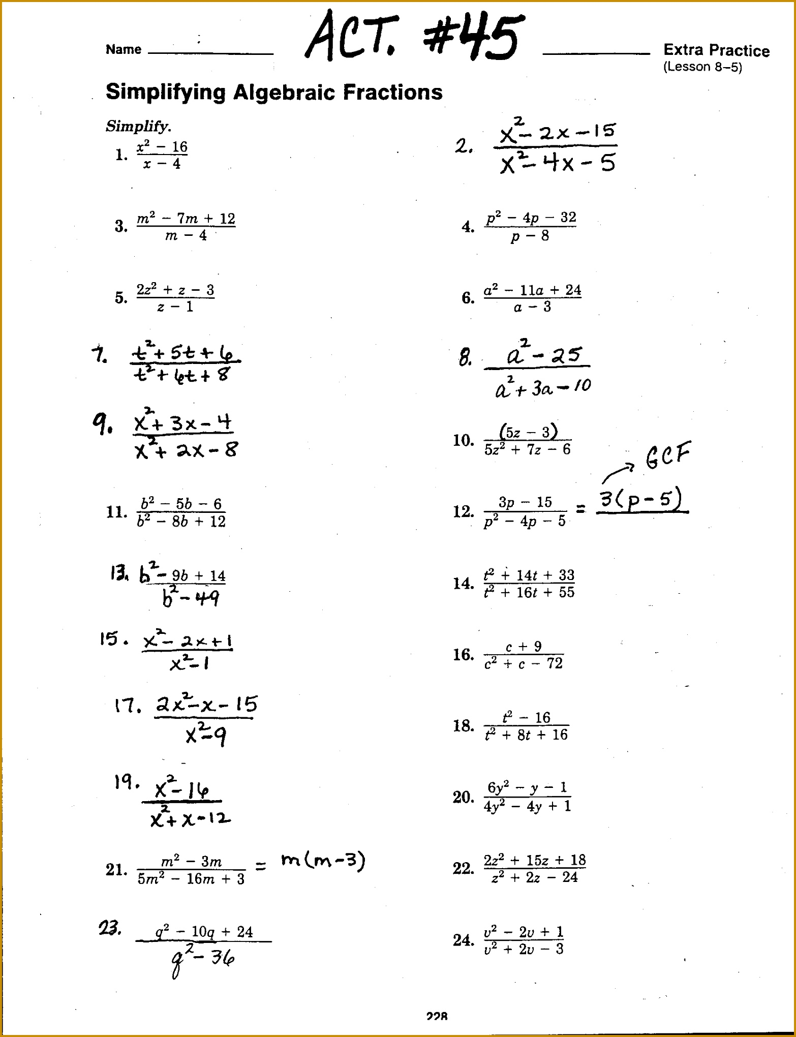 6 Solving Radical Equations Worksheet