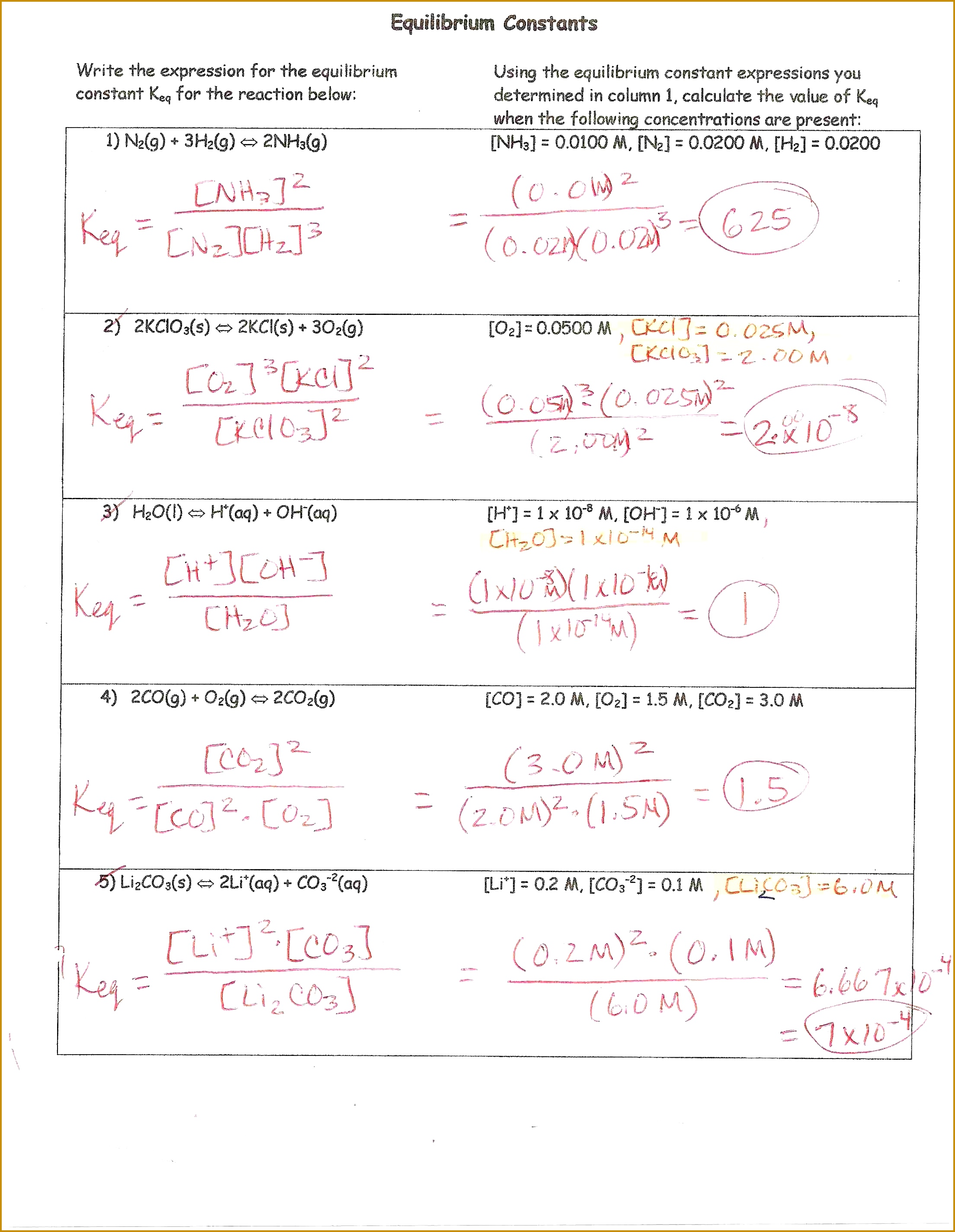7 Stoichiometry Review Worksheet Answers