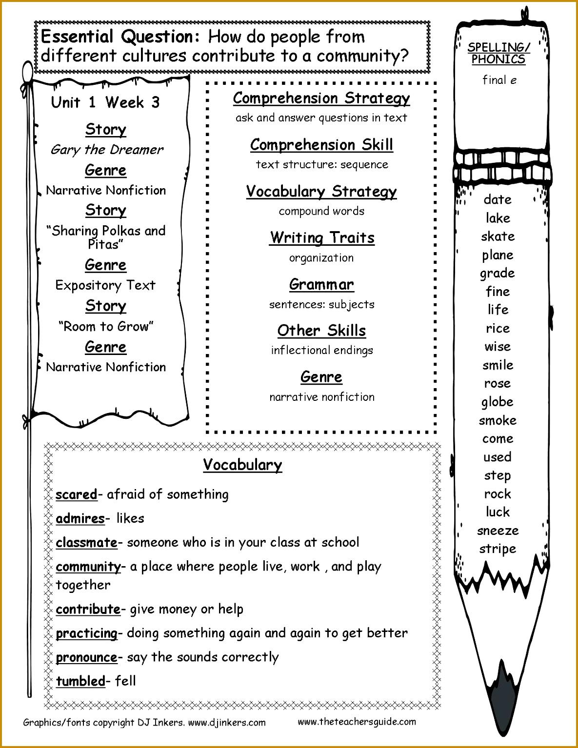 3rd Geometry Worksheet