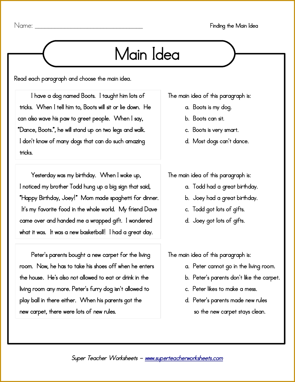 4 Third Grade Worksheets