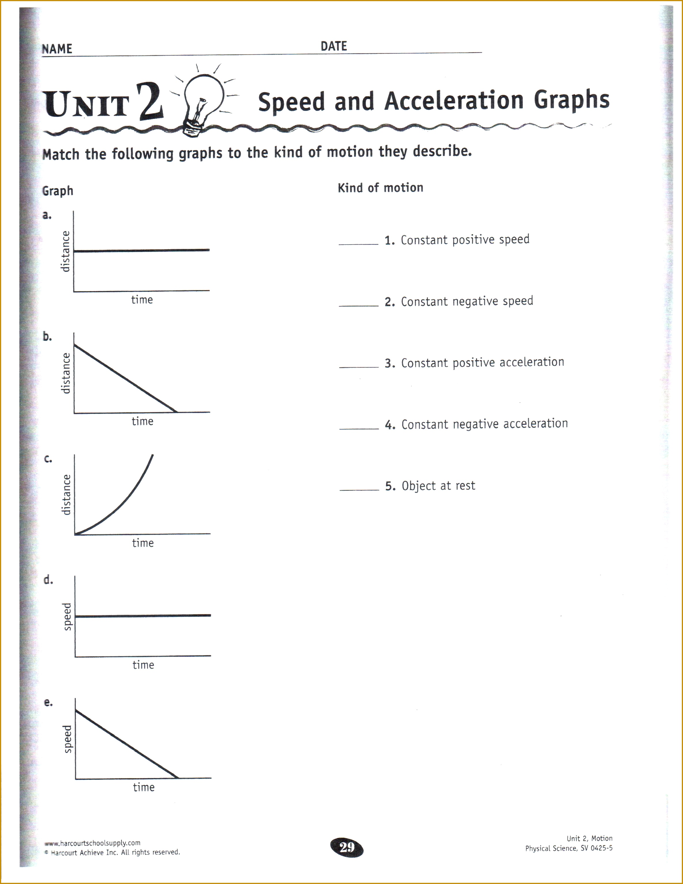 6 Velocity And Acceleration Calculation Worksheet Answers