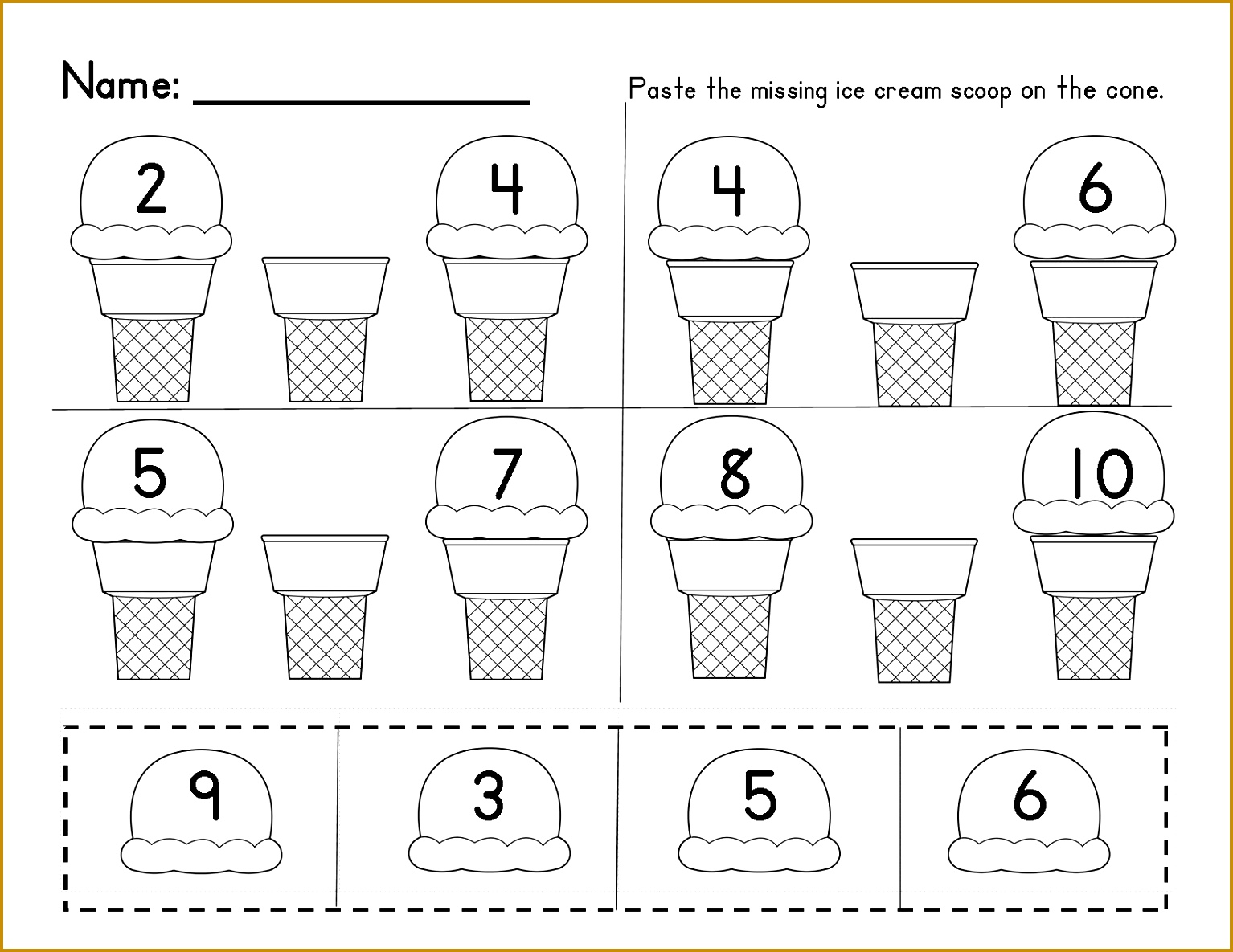 7 Worksheets For Kindergarten