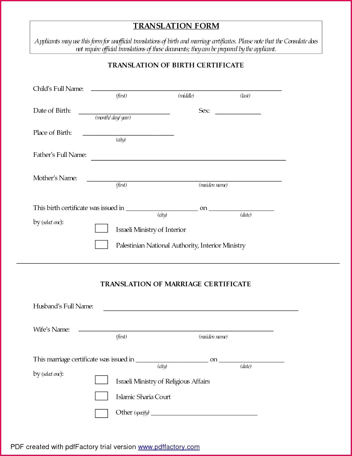 5 Birth Certificate Translation Template