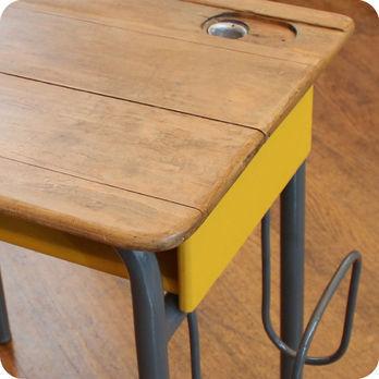 meubles vintage bureaux tables ancien bureau d ecolier avec porte cartable fabuleuse factory