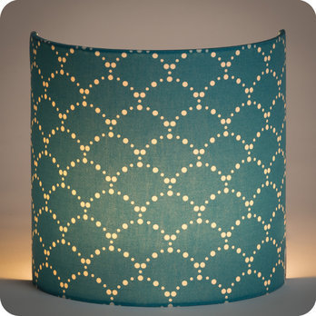 Applique Murale Design En Tissu Motif Japonais Bleu Canard