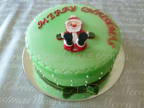 green-christmas-icing-cake