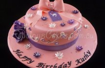 Salmon Color Birthday Cake