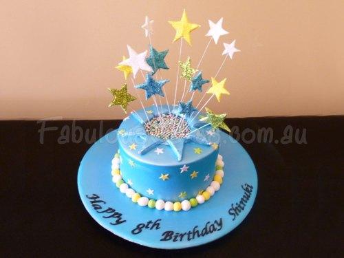 star-blue-birthday-cake