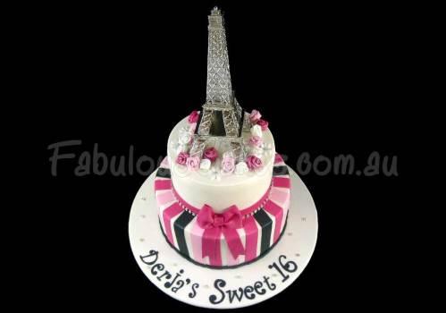 Eiffel Tower 16th Birthday Cake