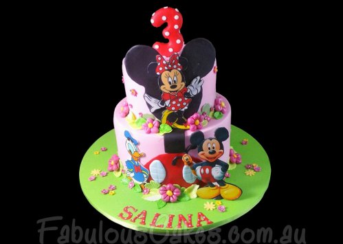 Mini and Mickey Mouse Cake