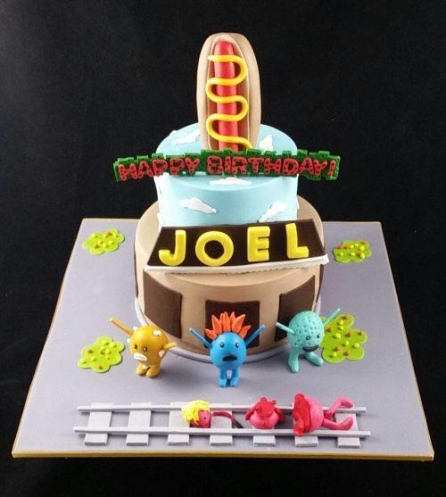 Dumb Way To Die Theme-Cake