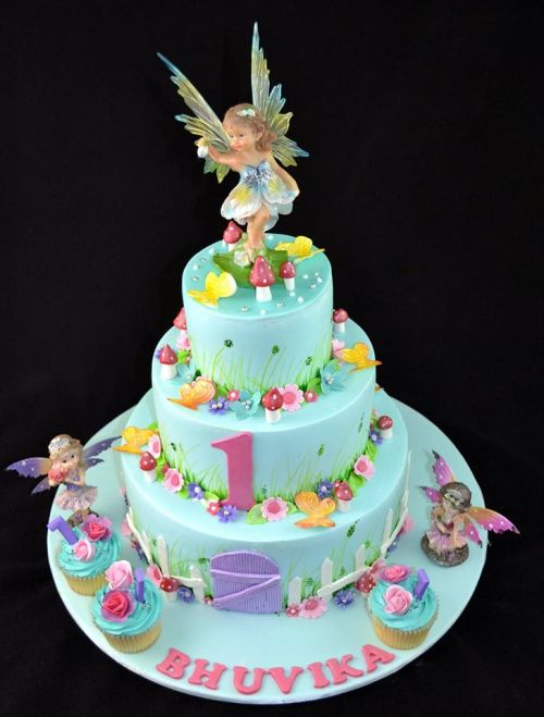 Garden Fairies Theme Cake