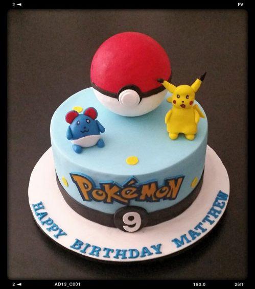 Pokemon Theme Cake
