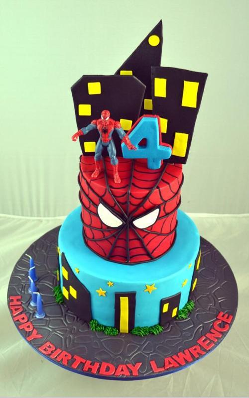 Spiderman Theme Cake