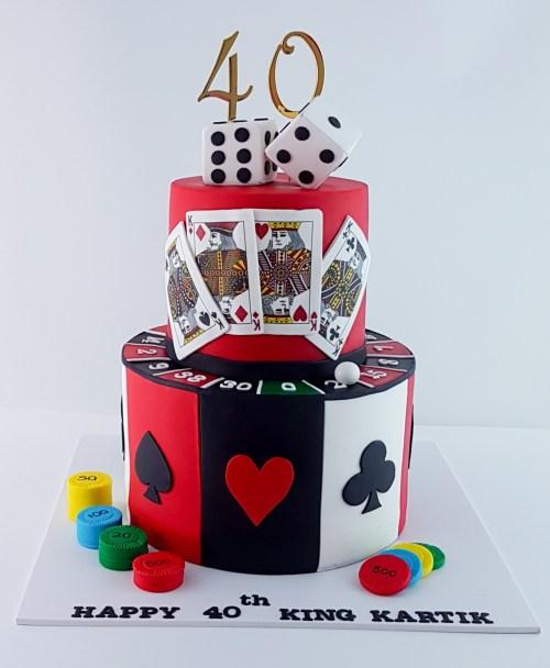 Casino Themed 40th Birthday Cake