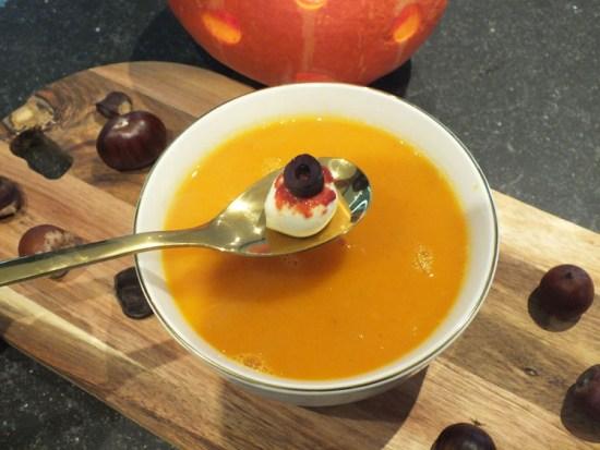 Halloween Recept Pompoensoep Mozzerella