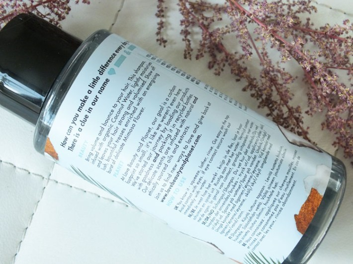 Review: Coconut & Mimosa Shampoo Love Beauty And Planet