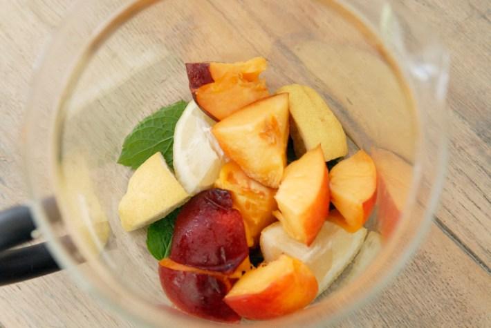 Recept zelfgemaakte ijsthee ice-tea zelf maken citroen munt perzik losse thee verse ijsthee