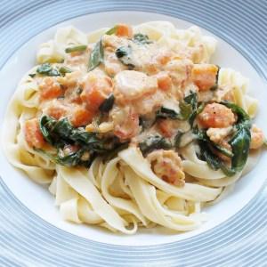 Recept: Pasta lamsoren rivierkreeftjes papaya
