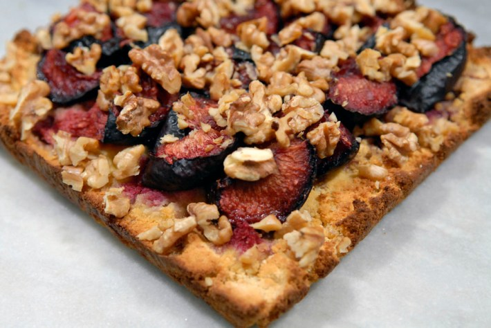 Recept Amandelmeel Walnoot pruimentaart paleo glutenvrij
