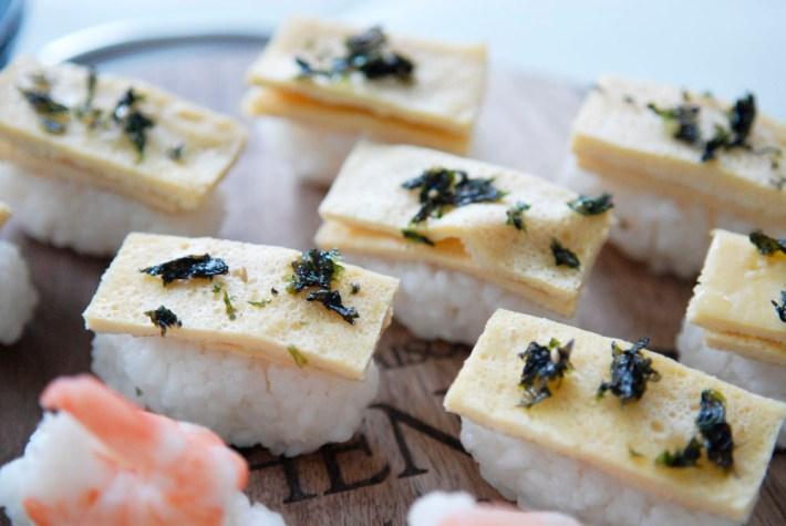 nigiri omelet maken