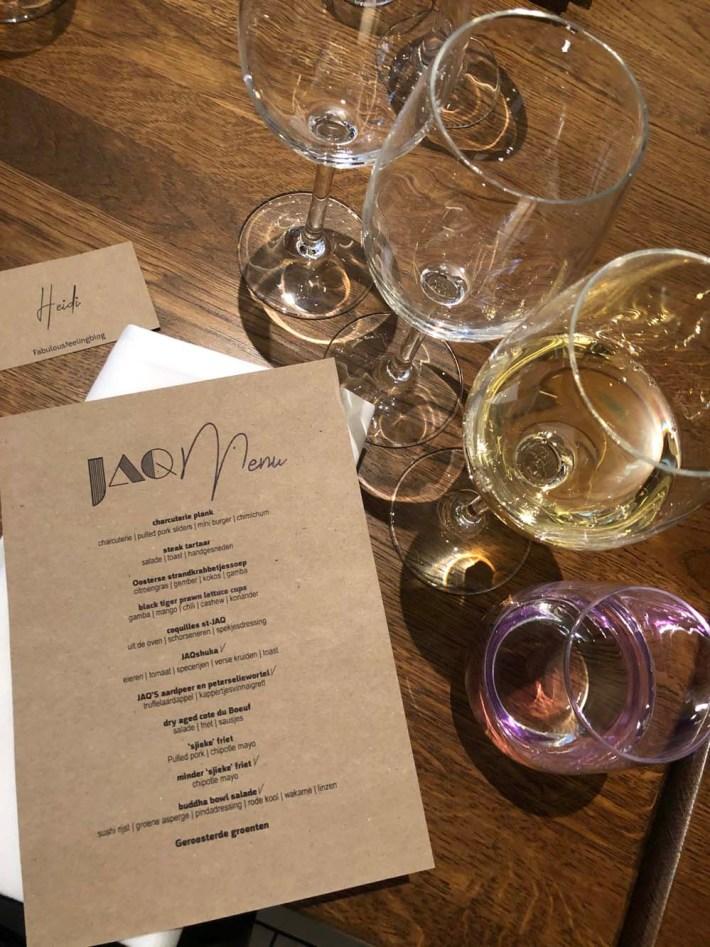 Nieuwe Hotspot: Restaurant JAQ Rotterdam menu