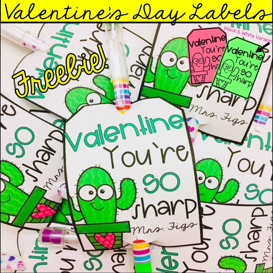 valentines day free prints you are so sharp label