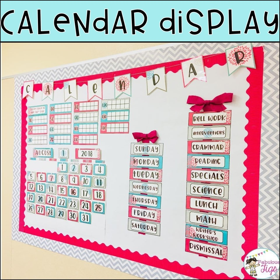 Diy Classroom Decor Easy Inexpensive Calendar Kits Fabulous Figs