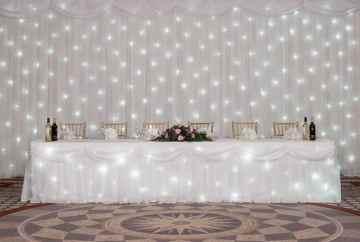 Star light Backdrop all lit up