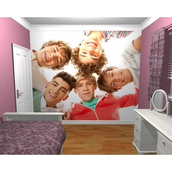 GIANT WALLPAPER WALL MURAL 1D ONE DIRECTION KIDS BEDROOM