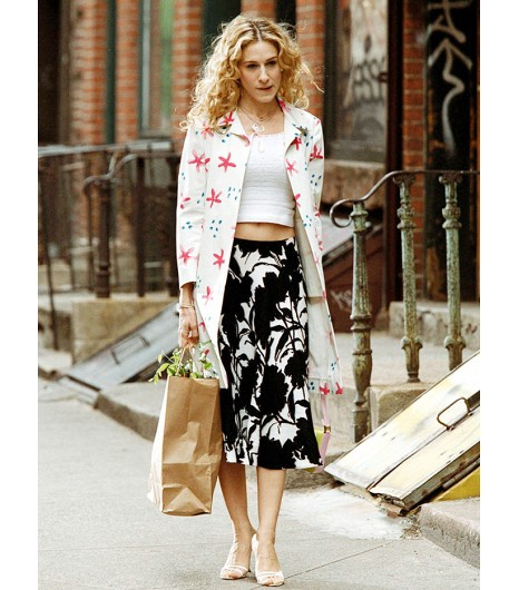 SJP and Carrie - just bought the most fabulous look a like vintage skirts to recreate these outfits.