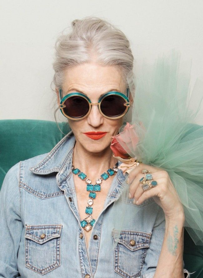 Linda Rodin - the ultimate grey haired icon!