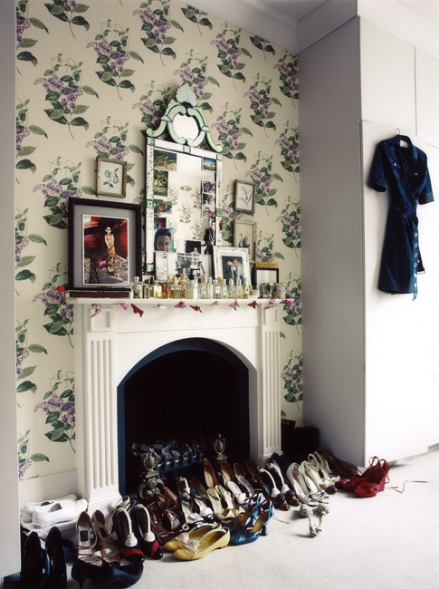 A mantle or fireplace the perfect place for special items or your shoe collection?