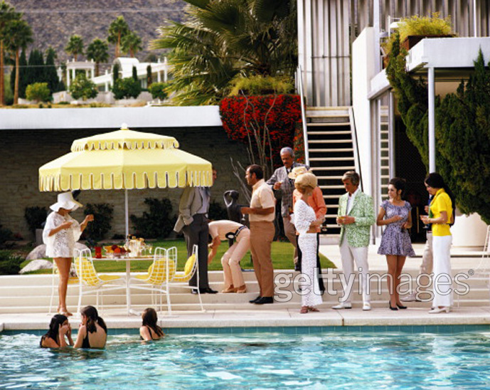 Slim Aarons - A Place in the Sun - well know society photographer who captured the rich and stylish in holiday resorts.
