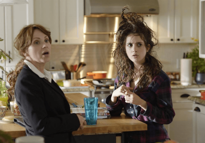 Pictured: Leigh-Allyn Baker & Laura Marano (Disney Channel/Phillippe Bosse)