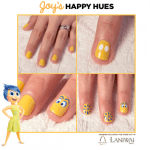 Inside Out inspired nail art