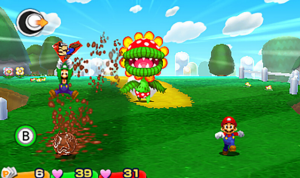 Screen Shot Mario Paper Jam gameplay